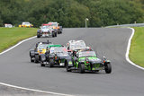 4th September 2010 - Caterham Motorsport Race Day - Oulton Park Race Circuit - Avon Tyres Caterham Roadsport B Championship Race - Lee Wiggins, Reece Somerfield, Jeremy Webb & Martin Addison