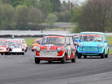 16th April 2011 - Modified Live & Time Attack - Oulton Park Race Circuit - Super Mighty Mini Race - David Kirkpatrick & Elliot Stafford